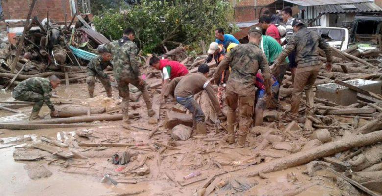 Kolombiyada sel felaketi çok sayıda ölü var