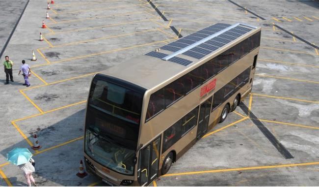 Güneş enerjili soğutmalı ilk çift katlı otobüs üretildi