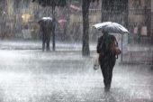 Sağanak yağış olan yerler